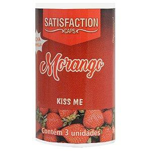 Bolinha Beijável Morango Kiss Me 03 Unidades Satisfaction