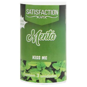 Bolinha Beijável Menta Kiss Me 03 Unidades Satisfaction