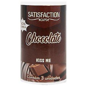 Bolinha Beijável Chocolate Kiss Me 03 Unidades Satisfaction