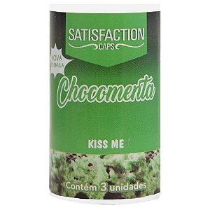 Bolinha Beijável Chocomenta Kiss Me 03 Unidades Satisfaction