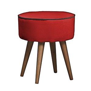 Puff Minas - Vermelho C/ Marrom