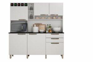 Armario De Cozinha Topazio Branco Sallêto