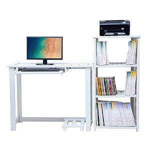 Estante e Mesa Conjugada Home Office Zafira Plus