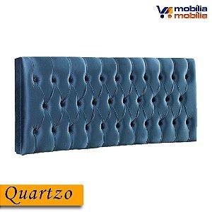 Cabeceira Quartzo 0,90MT Tecido Joly - Azul