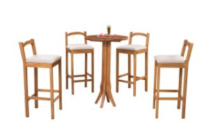 Conjunto 4 Banquetas Ravena E 1 Mesa Ravena