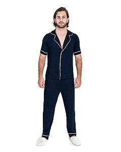 Pijama Americano masculino Basico Azul Marinho