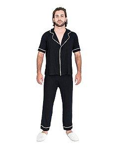 Pijama Americano masculino Basico Preto
