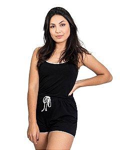 Pijama feminino Short Doll Basico Preto