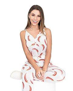 Pijama feminino com Calca Estampado Pimenta