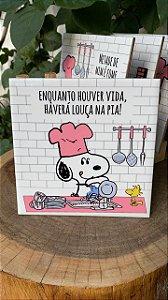 Azulejo Snoopy Enquanto Houver Vida, Haverá Louça na pia! - 15X15