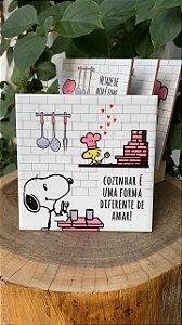 Azulejo Snoopy Cozinhae é uma forma diferente de amar! - 15X15