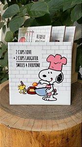 Azulejo Snoopy Misturando os ingredientes - 15X15