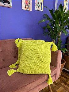 Capa de almofada Amarelo Lima 40X40