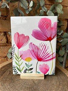 Azulejo Flores Aquarela 15X20