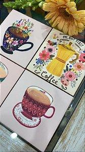 Kit Porta-Copos Café