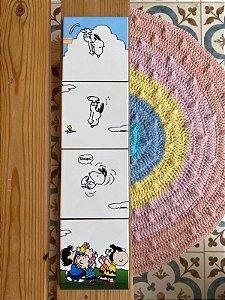 Quarteto Azulejo Snoopy 40X10