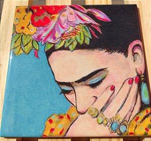 Azulejo 20 x 20 - Frida mão no rosto