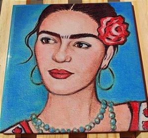 Azulejo 20 x 20 - Frida flor vermelha