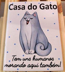"""Azulejo 15 x 20 - """"Casa do gato"""""""