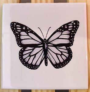 Azulejo 15 x 15 - Borboleta Preta e Branca