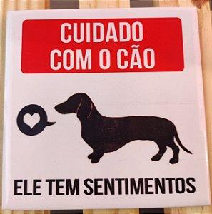 """Azulejo 15 x 15 - """"Cuidado com o cão"""""""