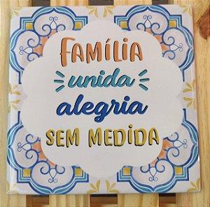 """Azulejo 20 x 20 - """"Família unida"""""""