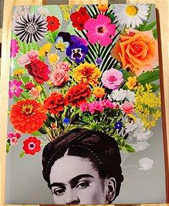 Azulejo 15 x 20 - Frida cabeça florida