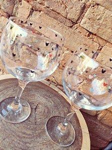 Kit duas taças Gin - corações