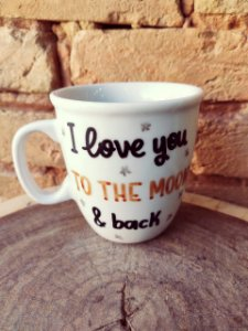 Caneca Biruta - Moon and back