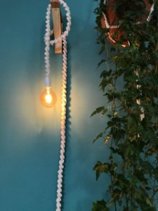 Luminária de Macramê ( Crú )