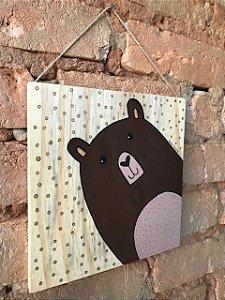 Placa de Madeira - urso