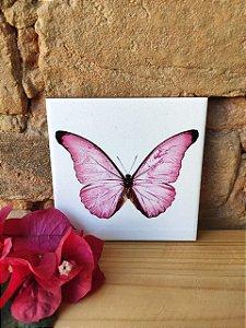 Azulejo 10x 10 - Borboleta Rosa