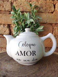"""Bule """" Coloque Amor """""""
