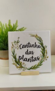 """Azulejo20 x 20 - """"Cantinho das plantas"""" II"""