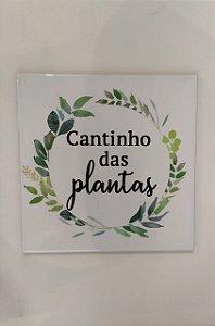 """Azulejo 20 x 20 - """"Cantinho das plantas"""" I"""