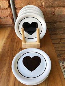 Prato sobremesa ( Coleção Casa Amor )