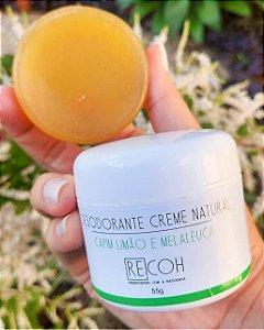 Desodorante creme natural ( Capim Limão e Melaleuca )