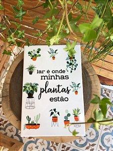 Azulejo 20 x 30 - Lar & Plantas II