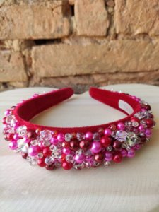 Tiara Jóia Pink Vermelha