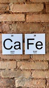 Duplinha 15 x 15 - Café tabela periódica