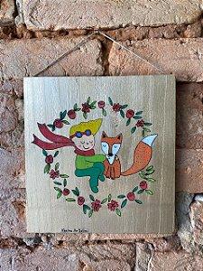 Placa de Madeira Pequeno Príncipe