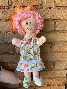 Boneca Menina Flor