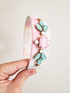 Tiara Tie-Dye com Pedraria