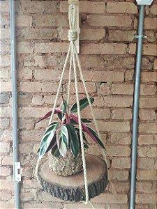 Hanger Rústico com  corda Sisal
