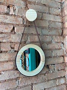 Espelho Adnet com gancho de madeira