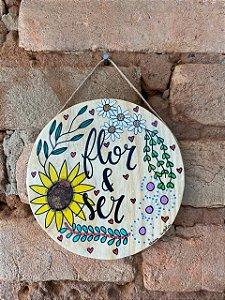 Placa Flor e Ser
