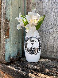 Vaso de parede travesseiro - Gratidão