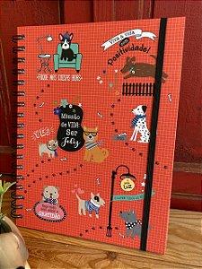 Caderno colegial - cachorrinho