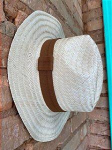 Chapéu Panamá detalhe Marrom