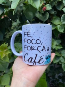 Caneca Fé, Foco, Força e Café 350ml